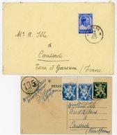 BELGIQUE CP ENTIER 1945 ET ENV 1937 - 1935-1949 Petit Sceau De L'Etat
