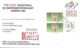 1993 Championnat D'Europe De Basketball:Munich :courrier Recommandé Du Comité D'Organisation. - Basket-ball