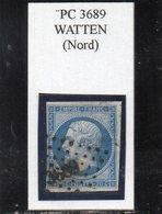 Nord - N° 14B Obl PC 3689 Watten - 1853-1860 Napoléon III