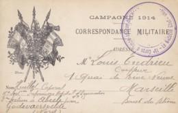 Correspondance Militaire / Campagne 1914-1915 / Cachet 15ème Corps D'Armée Annexe De L'Hopital D'Evacuation. - Franchigia Militare (francobolli)
