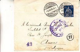 Suisse - Carte Postale De 1916 - Oblit Adelboden - Exp Vers Anvers - Avec Censure - Brieven En Documenten