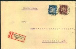 """1925, Einschreiben Ab """"FREIBURG (BREISGAU) TELEGRAPHENAMT"""" - Lettres"""
