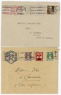 HAUTE  GARONNE ET GIRONDE ENV X 2  1946 TOULOUSE ENTETE UNION PHILATELIQUE ET BORDEAUX OMEC SALON PHILATELIQUE - Marcophilie (Lettres)