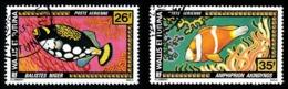 WALLIS ET FUTUNA 1978 - Yv. PA 76 Et 77 Obl.   Cote= 2,60 EUR - Poissons Balistes & Amphirion (2 Val.)  ..Réf.W&F22552 - Luftpost