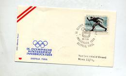 Lettre Cachet Seefeld Jeu Olympique Ski - Affrancature Meccaniche Rosse (EMA)