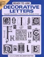 Decorative Letters By Carol Belanger Grafton Ready-to-Use Dover Clip-Art Series (excellent Pour Tous Les Graphistes) - Fine Arts