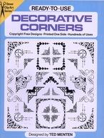 Decorative Corners By Ted Menten Ready-to-Use Dover Clip-Art Series (excellent Pour Tous Les Graphistes) - Fine Arts