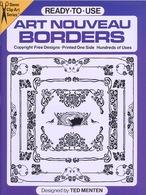 Art Nouveau Borders By Ted Menten Ready-to-Use Dover Clip-Art Series (pour Les Graphistes) - Fine Arts
