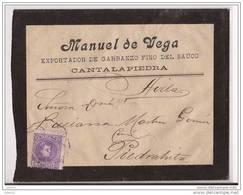 ESCA246-LC115TPANTIGSC.Exportador De Garbanzos.CARTA DE  PIEDRAHITA (Avila) A AVILA..Manuel De Vega.1906.(Ed 246).MUY B. - Otras Colecciones