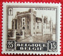 25c+15c Kastelen Tuberculose Châteaux Wynendael 1930 OBP 309 (Mi 292) POSTFRIS / MNH **BELGIE BELGIUM - Unused Stamps