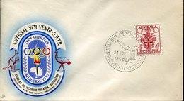 53353 Australia, Special Postmark 1956 Melbourne Olympiade,olympic Park, Artistic Gymnastics Pommel Horse - Sommer 1956: Melbourne