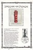 Tirage Limité 400 Exemplaires 1852 Journée Du Timbre Borne Postale Andenne - Feuillets