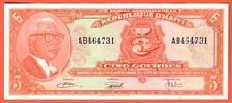 HAITI Billet 5 Gourdes ( 1919 ) Pick 202 - Haïti