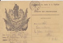Correspondance Des Armées De La République  Française / Carte En Franchise / Cachet Trésor Et Postes *23*. - Franchise Militaire (timbres)