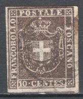 Toscana 1860 Governo Provvisorio Sass.19 O/Used VF/F - Toscana