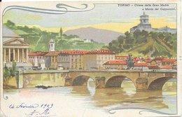 Italie Turin (Torino) - Eglise Gran Madre Di Dio & Mont Dei Cappucini Colorisé église 1909 TB - Kerken