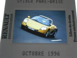 Diapositive Presse,voiture Renault Spider ,octobre 1996,envoi En Lettre économique 0,95€ Jusqu'à 4 Diapos,possibilité De - Diapositive
