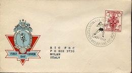 53359 Australia, Special Postmark 1956 Melbourne Olympiade,main Stadium,Javelin Throw,Lancer Du Javelot,Speerwurf - Sommer 1956: Melbourne