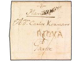 SPAIN: PREPHILATELIC MARKS  DP08 RIOJA - ...-1850 Préphilatélie