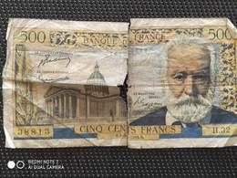 Lot De  4  Billets 500 Francs Victor Hugo ( 1954 – 1959 ) - 1871-1952 Antichi Franchi Circolanti Nel XX Secolo