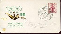 53360 Australia, Special Postmark 1956 Melbourne Olympiade,olympic Park, Artistic Gymnastics Pommel Horse - Sommer 1956: Melbourne