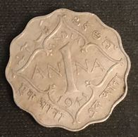 INDE - INDIA - 1 ANNA 1941 - George VI - KM 537 - Indien