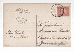De Waal Texel Grootrond - 1910 - Marcophilie
