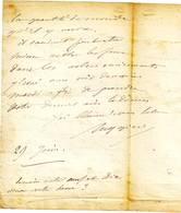 RUGGIERI Artificier Du Gouvernement, Lettre Autographe De L'inventeur De La Pyrotechnie Moderne , TRES BON TEXTE 18?? - Autographs