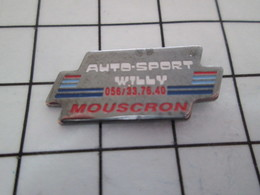 1016c Pin's Pins / Beau Et Rare / THEME : SPORTS / AUTOMOBILE AUTO-SPORT WILLY MOUSCRON - Car Racing - F1
