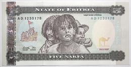 Érythrée - 5 Nafka - 1997 - PICK 2 - NEUF - Eritrea