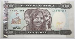 Érythrée - 10 Nafka - 1997 - PICK 3 - NEUF - Eritrea