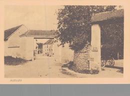 02 - AIZELLES / CARTE POSTALE ALLEMANDE ENTREE DE FERME - Other Municipalities