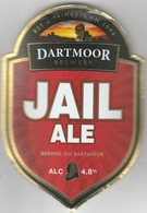 DARTMOOR BREWERY  (PRINCETOWN, ENGLAND) - JAIL ALE - CURVED PUMP CLIP FRONT - Letreros