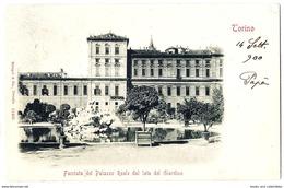 Torino - Facciata Del Palazzo Reale Dal Lato Del Giardino - 1900. - Palazzo Reale