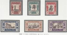 COLONIE LIBIA 1928  II FIERA DI TRIPOLI  SERIE COMPLETA  SASSONE S.15  MNH  SPLENDIDI - Libya