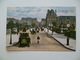 CPA / Carte Postale Ancienne  / PARIS  Transports Tuileries - Transport Urbain En Surface