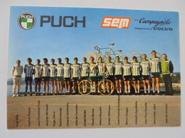 CARTE POSTALE EQUIPE CYCLISTES PUCH - Cyclisme