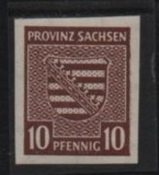 OCC. PROV. SACHSEN - 1945 - Stemma 10 Pf. ND - Mi. 72 Serie Cpl. 1v. Nuovo** Perfetto - Zone Soviétique