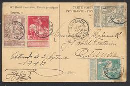 Caritas - N°84, 85, 90 Et 91 (Port Important !) Sur CP Vue Expédié De Ostende (station) > Ostende. TB - 1910-1911 Caritas