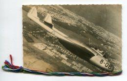 """AVIATION CARTE PHOTO Double Liseret Avion """" 8-QB """" Languedoc SC1   Survolant Le Maroc  D07  2020 - ....-1914: Précurseurs"""