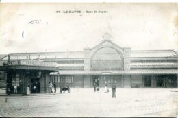 N°71164 -cpa Le Havre -gare De Départ- - Stations Without Trains