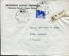Italia (1963) - Raccomandata Da Arona (NO) - 6. 1946-.. Repubblica