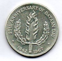 PHILIPPINES, 1 Peso, Silver, Year 1967, KM #195 - Philippines