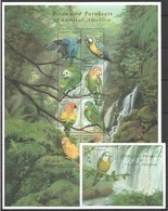 PK129 GUYANA FAUNA BIRDS & PARAKEETS OF CENTRAL AMERICA 1SH+1BL MNH - Parrots