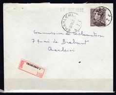848A Op Aangetekende Brief Gestempeld CHARLEROI E 2 E - 1936-1951 Poortman