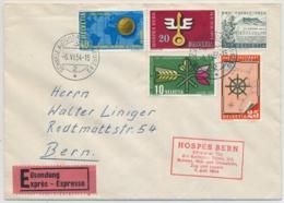 316-319 Auf EXPRESS Brief - Mit SS HOSPES Bern - Gelaufen BERN Nach BERN - Cartas