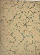 Lot 3 , Papier Marbrée Ancien ,2 Feuilles Caillouté Rouge , Crème Et Noir ,Restauration 1890 - Loisirs Créatifs