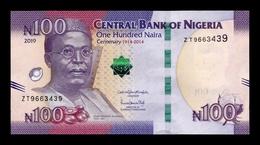 Nigeria 100 Naira 2019 (2020) Pick 41b New Sign SC UNC - Nigeria