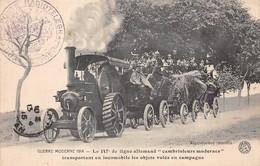 """Militaire - N°66493 - Guerre Moderne 1914 - Le 147ème De Ligne Allemand """"cambrioleurs Modernes"""" ... - Tracteur - Cachet - Matériel"""