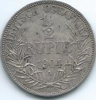 German East Africa - 1904 A - Wilhelm II -½ Rupie - KM9 - Afrique De L'Allemagne De L'Est